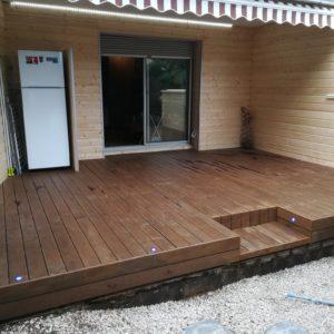 Sol platelage bois kebony terrasse bois pays-de-gex prévessin cessy gradconcept