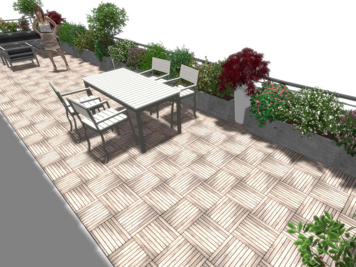 Conception d'une terrasse à Echenevex