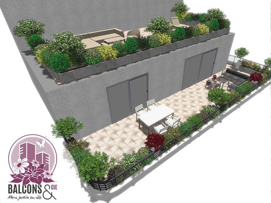Conception de 2 terrasses en duplex à Saint Genis Pouilly