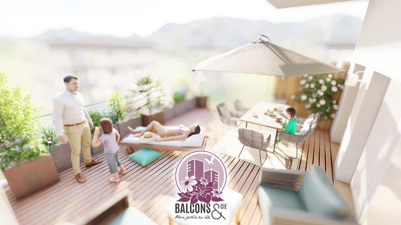 Projet de fleurissement d'un balcon à Ornex