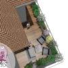 Conception 3D aménagement paysager balcon terrasse attique paysagiste pays de gex. Architecte paysagiste. Aménagement immeuble et jardin.