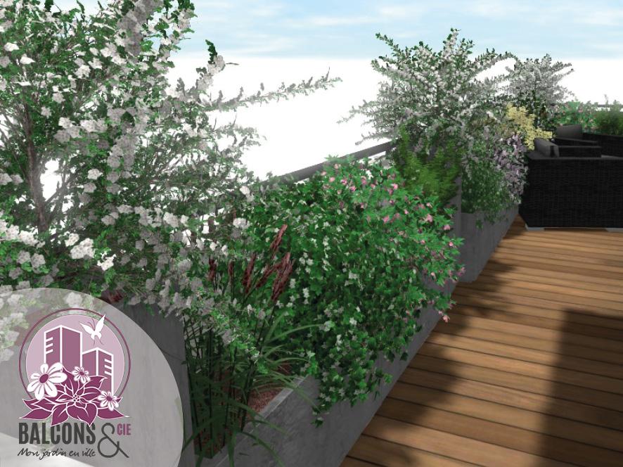 Plantations sur un balcon à Prévessin